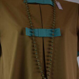 Collana donna filigrana bronzo con corno nero collezione primavera estate 2019 nostra produzione artigianale.