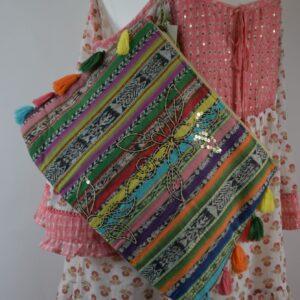 Pochette-purse 100%cotone  colore multicolor articolo m120 collezione primavera estate 2019 produttore miss june.