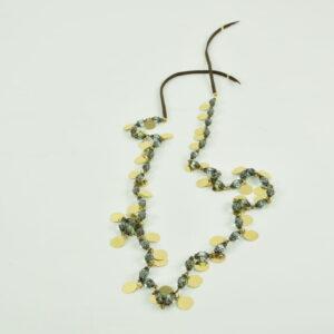 Collana con medagliette colore oro e cristalli colorati nostra produzione continuativa collezione primavera estate 2019
