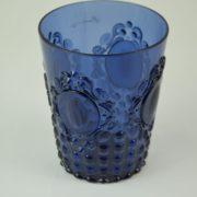Bicchiere acqua colore oltremare in resina brgwa.bar042 casa produttrice baci milano.