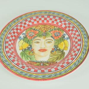 Piatto piano baroque orange bmpl1 brm04 cm.28  produttore baci milano