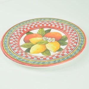 Piatto frutta baroque orange bmpl3 brm04 cm.22  produttore baci milano