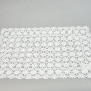 Tovaglietta colazione Cm.30×46 Colore White (bianco) impermeabile vinile morbida pizzo