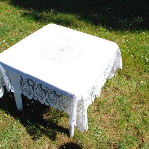 Tovaglia pvc Cm.137×137 Colore white (bianco)
