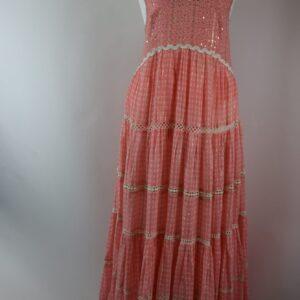 Abito manly-pink taglia free 100% cotton voile colore pink articolo m-40 collezione primavera estate 2019  produttore miss june.