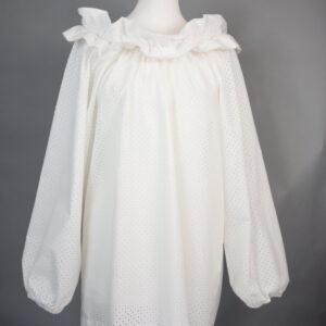 Camicia p14/18 cotone colore bianco.