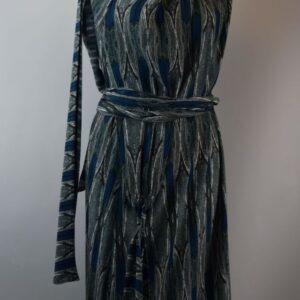 Abito p19/18 abito lungo viscosa colore fantasy blue.