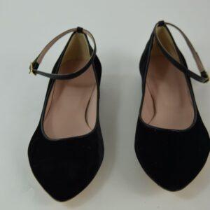 Ballerina lacci velluto-nero