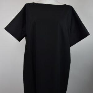 Casacca donna nome articolo leone estivo collezione primavera estate 2019  popelline colore nero manica corta sartoria limitata pezzi unici stilista Giotta di rimini.
