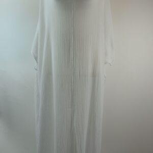 Kaftan  modello 1819  djellaba kaftano colore bianco 14b 100% garza organic cotone collezione primavera estate 2019
