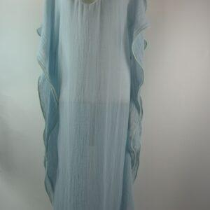 Kaftan modello 1819  kaftan colore 22pb 67fa azzurro 100% garza organic cotone collezione primavera estate 2019