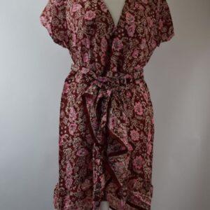 Vestito donna seta 100% colore rosso/bianco collezione primavera estate 2019 produzione mondo e colori.
