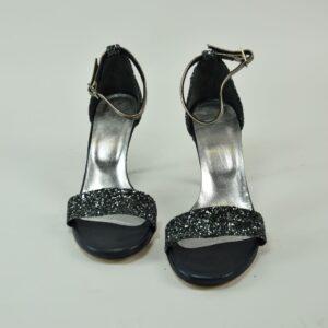 Sandalo  donna pitone estivo collezione primavera estate 2019 colore nero e argento  nostra produzione artigianale Disco d'oro limitata pezzi unici.