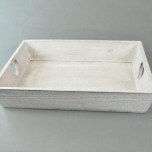Vassoio in legno cm 38×28/x7 colore grigio