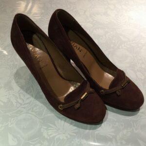 Sandalo tronchetto numero 40 marrone scuro