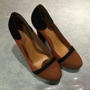 Sandalo tronchetto numero 39 nero e beige