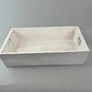 Vassoio in legno colore grigio cm33x23x7,5