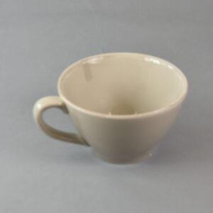 Tazza grande mastic colore tortora con manico in ceramica