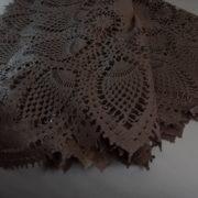 Tovaglia cm 150×264 impermeabile in vinile pvc colore chocolate.