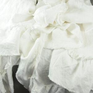 Tovaglia 160x290cm. 100%lino 17 colore bianco con volant tsltop2 1pce.