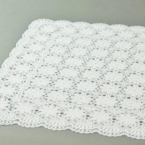 Tovaglietta 30×46 colazione fiori piena colore rigida bianco