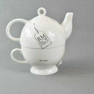Teiera  con tazza colore bianco in ceramica rm est.'48