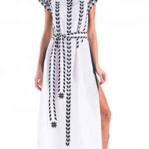 Abito long dress bianco