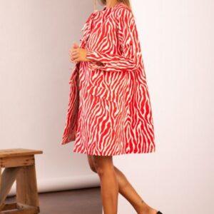 Cappotto rosso zebrato GIO.tta modello Siracusa