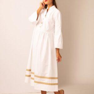 Abito donna modello trani colore bianco e beige